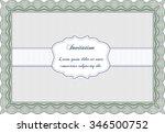 retro vintage invitation.... | Shutterstock .eps vector #346500752