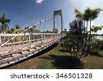 suspension bridge in park | Shutterstock . vector #346501328