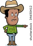 cowboy angry | Shutterstock . vector #34650412