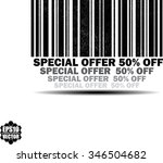 special offer 50 percent off  ...   Shutterstock .eps vector #346504682
