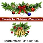 christmas decoration  with... | Shutterstock .eps vector #346504736