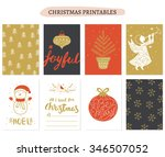set of christmas cards... | Shutterstock .eps vector #346507052