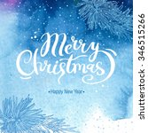 blue christmas card with... | Shutterstock .eps vector #346515266