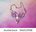 women hand made jewelery on... | Shutterstock . vector #346515908
