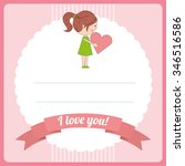 love card design  vector... | Shutterstock .eps vector #346516586