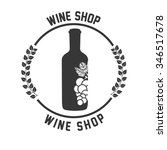 best wine design  vector... | Shutterstock .eps vector #346517678