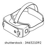 virtual reality vr goggles with ... | Shutterstock .eps vector #346521092