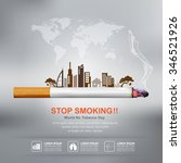 world no tobacco day vector... | Shutterstock .eps vector #346521926