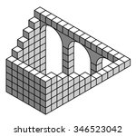 impossible geometry   object.... | Shutterstock .eps vector #346523042