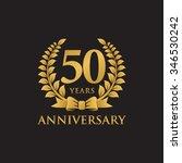 50 years anniversary wreath... | Shutterstock .eps vector #346530242