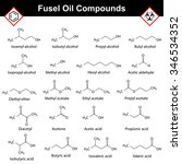 organic compounds of fusel oil  ... | Shutterstock . vector #346534352