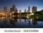 kuala lumpur city downtown at... | Shutterstock . vector #346534886
