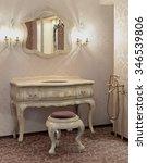 a bathroom in retro style ... | Shutterstock . vector #346539806