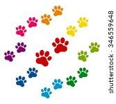 animal tracks. vector... | Shutterstock .eps vector #346559648