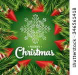 christmas card with white... | Shutterstock .eps vector #346561418