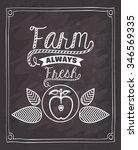 farm fresh food design  vector... | Shutterstock .eps vector #346569335