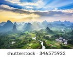 landscape of guilin  li river... | Shutterstock . vector #346575932