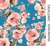seamless pattern watercolor... | Shutterstock . vector #346576562
