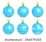 a variety of christmas tree... | Shutterstock . vector #346579205