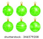 a variety of christmas tree... | Shutterstock . vector #346579208