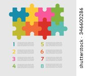 eight vector jigsaw puzzle... | Shutterstock .eps vector #346600286