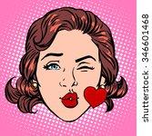 Retro Emoji Love Kiss Heart...