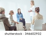 meeting or workshop for modern... | Shutterstock . vector #346602932