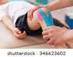 physiotherapist doing with... | Shutterstock . vector #346623602
