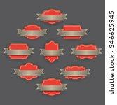 blank badges  | Shutterstock .eps vector #346625945