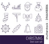 christmas and new year vector... | Shutterstock .eps vector #346648886