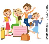 friend and trip | Shutterstock .eps vector #346649582