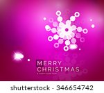 christmas purple color abstract ... | Shutterstock .eps vector #346654742