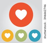 valentine heart symbol. | Shutterstock .eps vector #346662746