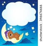 sleeping bear theme image 6  ... | Shutterstock .eps vector #346676666