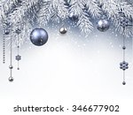 christmas background with... | Shutterstock .eps vector #346677902