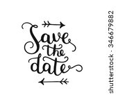 save the date  hand drawn... | Shutterstock .eps vector #346679882