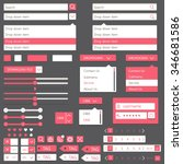 flat elements design  ui set....