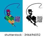 pro fishing | Shutterstock .eps vector #346696052