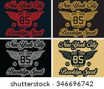 new york  city sports vector... | Shutterstock .eps vector #346696742
