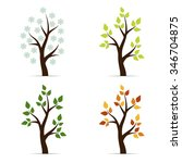 set of icons four seasons... | Shutterstock .eps vector #346704875
