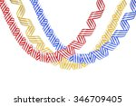 set of colorful serpentine... | Shutterstock . vector #346709405