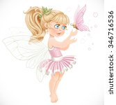 sweet fairy in a pink tutu... | Shutterstock .eps vector #346716536