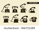 Set Of Retro Phone Icons....