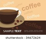 vector background with cup of... | Shutterstock .eps vector #34672624