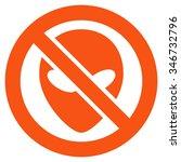 forbidden alien raster icon.... | Shutterstock . vector #346732796
