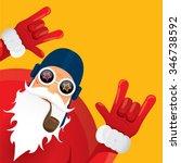 vector rock n roll santa claus... | Shutterstock .eps vector #346738592