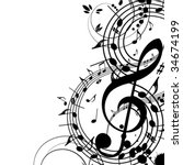 musical theme | Shutterstock .eps vector #34674199