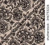 abstract seamless lace pattern... | Shutterstock .eps vector #346753226