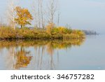 Stock photo autumn on the river a beautiful time of the year autumn landscape park in autumn the bright 346757282