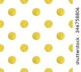 large gold polka dot seamless... | Shutterstock . vector #346758806